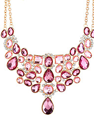 economico -Zircone cubico Collane Statement - Oversized Rosa 50+8.3 cm Collana Per Party / serata, Serata