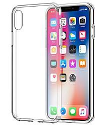 preiswerte -Hülle Für Apple iPhone X / iPhone 7 Transparent Rückseite Solide Weich TPU für iPhone X / iPhone 8 Plus / iPhone 8