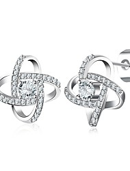 cheap -Women's Flower Stud Earrings / With Gift Box - Fashion Silver Geometric Earrings For Wedding / Daily