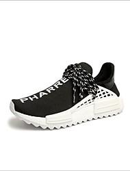 お買い得  -女性用 靴 チュール 春夏 コンフォートシューズ アスレチック・シューズ フラットヒール ラウンドトウ のために アウトドア ブラック