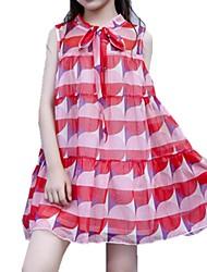 economico -Bambino Da ragazza A scacchi Senza maniche Vestito