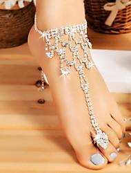 Недорогие -Ножной браслет / Кольцо для ног Свисающие Простой, Мода Жен. Серебряный Украшения для тела Назначение Свадьба / На выход