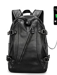 "cheap -PU Leather Solid Color Backpacks / Handbags 14"" Laptop / iPad"