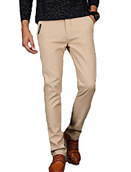 cheap -Men's Slim Chinos Pants - Solid Colored / Work