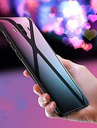 Недорогие -Кейс для Назначение Huawei Mate 10 pro / Mate 10 Зеркальная поверхность Кейс на заднюю панель Однотонный Твердый Закаленное стекло для Mate 10 / Mate 10 pro / Mate 10 lite / Mate 9 Pro