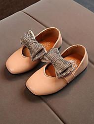 abordables -Chica Zapatos PU Primavera Confort Zapatos de taco bajo y Slip-On Pedrería / Pajarita para Negro / Beige / Rosa