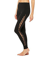 cheap -Yoga Pants Leggings Tights Trainer Dancing Quick Dry Mid Rise Stretchy Sports Wear Women's Yoga Running