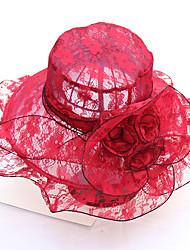 cheap -Women's Cute / Basic Sun Hat - Print Lace