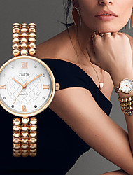 cheap -Women's Dress Watch / Wrist Watch Chinese New Design / Casual Watch / Imitation Diamond Alloy Band Casual / Fashion Gold / Sony SR920SW / Two Years