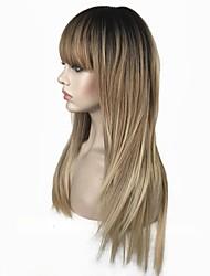 economico -Parrucche sintetiche Liscio Taglio scalato Capelli sintetici 100% capelli kanekalon Biondo Parrucca Per donna Lungo Senza tappo