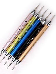 Недорогие -5 ед. Искусственные советы для ногтей Инструмент для ногтей Набор для ногтей Модный дизайн маникюр Маникюр педикюр Профессиональный На каждый день