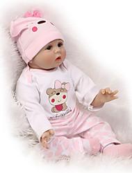 Недорогие -NPKCOLLECTION Куклы реборн 24 дюймовый Силикон - Новорожденный как живой Милый стиль Безопасно для детей Non Toxic Ручные прикладные ресницы Детские Универсальные / Девочки Игрушки Подарок / CE