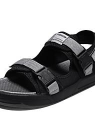 cheap -Men's Shoes Fabric Summer Comfort Sandals Black / Gray
