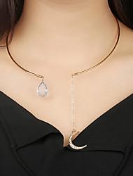 billiga -Chokerhalsband - MOON Vintage, Bohemisk, Bohem Guld 20 cm Halsband Smycken Till Gåva, Kvällsfest, Street