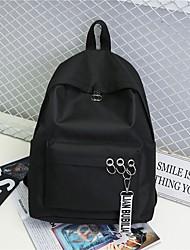 cheap -Women's Bags Oxford Cloth / Polyester School Bag Zipper White / Black / Blushing Pink
