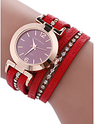 cheap -Women's Bracelet Watch Quartz 30 m Chronograph PU Band Analog Bangle Red - Gray Brown Red One Year Battery Life / Stainless Steel / SSUO LR626