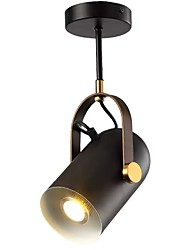 abordables -QIHengZhaoMing Projecteur Lumière d'ambiance Finitions Peintes Métal 110-120V / 220-240V Blanc Crème Ampoule incluse