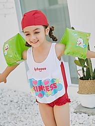 abordables -SABOLAY Fille Combinaison Fine Cap détachable, Confortable Polyester / Spandex / Chinlon Sans Manches Maillots de Bain Tenues de plage Maillots de Bain Natation / Activités Extérieures / Sports