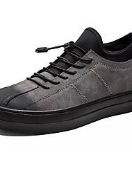 Недорогие -Муж. Искусственная кожа / Полиуретан Осень Удобная обувь Кеды Черный / Серый