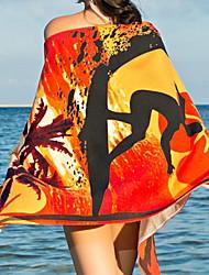 baratos -Qualidade superior Toalha de Praia, Pintura Combinação Poliéster / Algodão 1 pcs