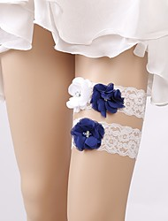 cheap -Lace Wedding / Bridal Wedding Garter With Floral Garters Wedding / Party
