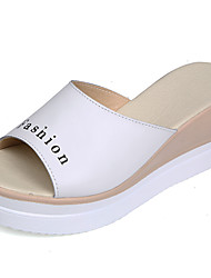 cheap -Women's Shoes Cowhide Spring & Summer Comfort Sandals Creepers White / Pink / Light Blue
