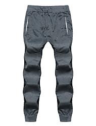 povoljno -muške pamučne tankoslojne hlače - čvrste boje