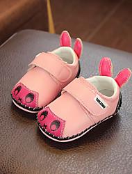 Недорогие -Девочки Обувь Кожа Весна & осень Обувь для малышей Кеды На липучках для Дети Желтый / Синий / Розовый