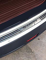 abordables -0.8 m Barre de seuil de voiture pour Coffre de voiture Externe Normal Acier Inoxydable Pour Suzuki Toutes les Années S-Cross / Tongxiao