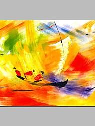 Недорогие -Hang-роспись маслом Ручная роспись - Абстракция / Спорт Modern холст