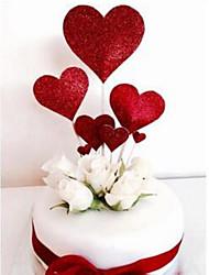 Недорогие -Украшения для торта Цветы / Романтика / Свадьба Стиль / Heart Shape Бумага Свадьба / День рождения с Сердце 7pcs Пенополиуретан