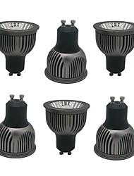 Недорогие -zdm 6pcs gu10 gu5.3 e27 e14 4w cob led lamp cup 250-350lm черный сгущенный алюминий без диммирования отражатель светодиодные лампы ac85-265v