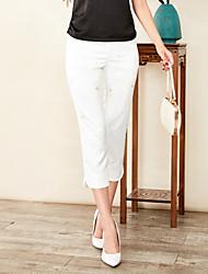 abordables -Mujer Básico Chinos Pantalones - Un Color / Geométrico