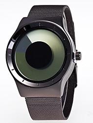 Недорогие -Муж. Жен. Наручные часы Кварцевый Черный Творчество Крупный циферблат Аналоговый На каждый день Мода - Розовый Зеленый Синий