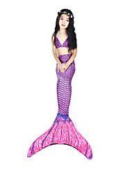 abordables -La Petite Sirène Maillots de Bain / Bikini / Costume Femme Halloween / Carnaval Fête / Célébration Déguisement d'Halloween Violet Rétro