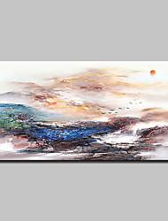 abordables -Pintura al óleo pintada a colgar Pintada a mano - Abstracto Paisaje Clásico Modern Lona
