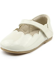 cheap -Girls' Shoes Leatherette Spring & Fall Comfort / Flower Girl Shoes Flats Hook & Loop for Kids Beige