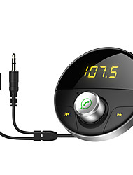 abordables -HY-62 Bluetooth 4.2 Car Chargeur USB Socket simple Bluetooth Emetteurs FM MP3 Universel