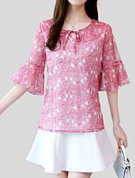 preiswerte -Damen Blumen - Street Schick Bluse Schleife