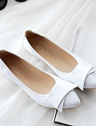 abordables -Femme Chaussures Polyuréthane Printemps Eté Confort Ballerines Talon Plat pour Décontracté Blanc Rouge Amande