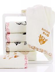 Недорогие -Высшее качество Полотенца для мытья, Геометрический принт Полиэстер / Хлопок / 100% хлопок 2 pcs