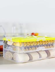baratos -Organização de cozinha Armazenamento de alimentos / Caixas de Armazenamento PP (Polipropileno) Fácil Uso / Armazenamento 1pç
