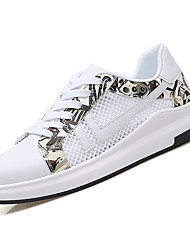 cheap -Men's Tulle / PU(Polyurethane) Summer Comfort Sneakers Color Block Red / Black / White / White / Blue