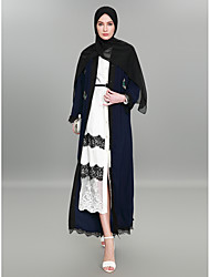 cheap -BENEVOGA Women's Sophisticated / Street chic Abaya - Color Block / Crewels, Lace / Embroidered