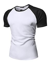 abordables -Tee-shirt Homme, Couleur Pleine Basique