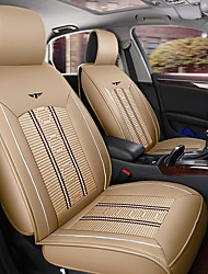 cheap -ODEER Car Seat Cushions Seat Covers Beige Textile / PU Leather Common for universal All years All Models