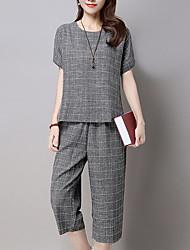 cheap -Women's Basic Set - Check Pant