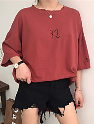 cheap -Women's Vintage Blouse - Solid Colored Black & Red, Tassel