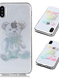 Недорогие -Кейс для Назначение Apple iPhone X / iPhone 8 Plus Покрытие / Прозрачный / С узором Кейс на заднюю панель Животное Мягкий ТПУ для iPhone