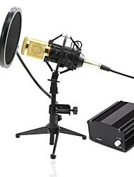 baratos -KEBTYVOR BM-800+PC03+48v phantom power PC / Com Fio Microfone KIT Microfone Condensador Microfone Portátil Para Microfone de Computador